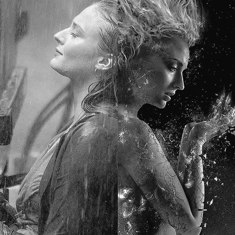 jean grey, dark phoenix, and sophie turner image